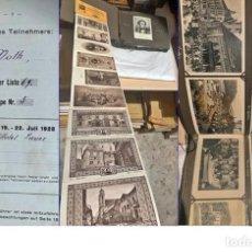 Postales: AÑO 1928: ANTIGUO ÁLLBUM CON FOTOS, POSTALES Y DOCUMENTOS DE VIENA. EJEMPLAR ÚNICO.. Lote 205157488