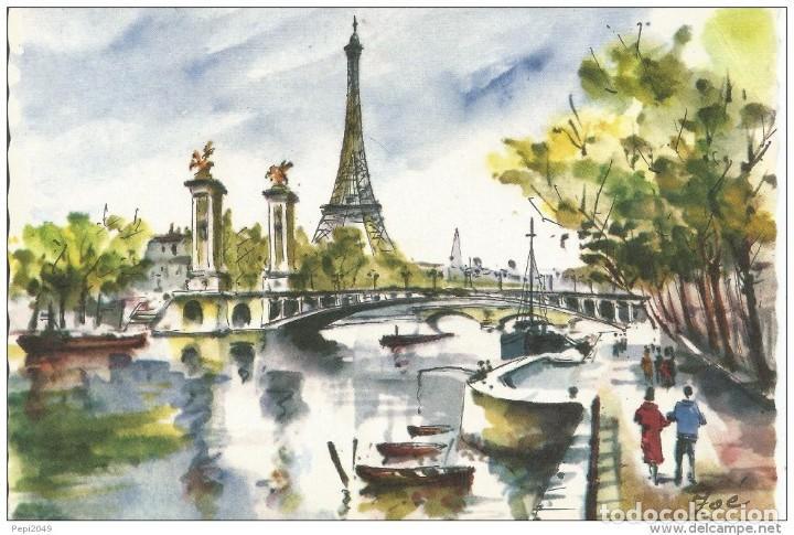 == C455 - POSTAL - PARIS - PONT ALEXANDRE III ET LA TOUR EIFFEL (Postales - Postales Extranjero - Europa)