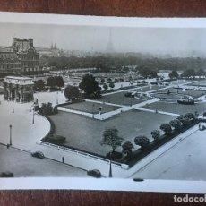 Postales: ANTIGUA FOTOGRAFIA-POSTAL DE PARIS, EL JARDIN DE TUILERIES. Lote 205650418
