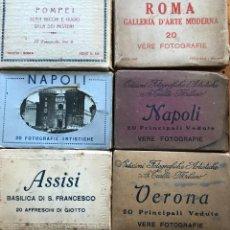 Postales: LOTE DE 6 ENVASES DE VERE FOTOGRAFIE DE ITALIA. Lote 205687190