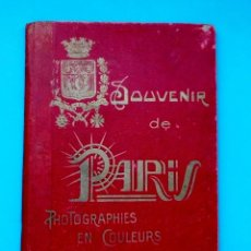 Postales: ANTIGUO SOUVENIR DE PARIS, PHOTOGRAPHIES EN COULEURS. Lote 205719165