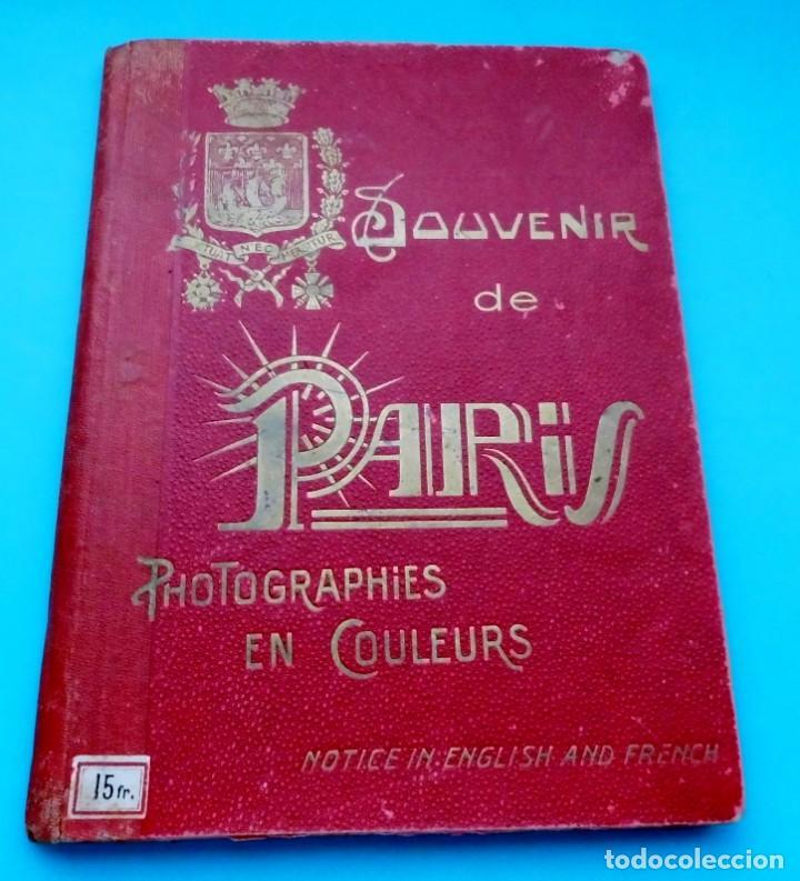 Postales: ANTIGUO SOUVENIR DE PARIS, PHOTOGRAPHIES EN COULEURS - Foto 10 - 205719165