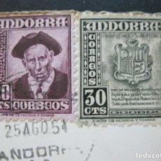 Postales: ANDORRA LA VELLA-VISTA PARCIAL-V.CLAVEROL-238-POSTAL ANTIGUA-(70.592). Lote 205724605