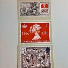 Postales: COLECCION 3 POSTALES CONMEMORATIVAS. Lote 205859907