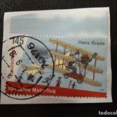 Postales: ALEMANIA 2008. 100 YEARS OF ENGINE FLIGHT IN GERMANY. MI:DE 2698 (2266). Lote 205873376