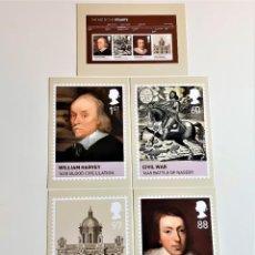 Postales: COLECCION 5 POSTALES CONMEMORATIVAS. Lote 206181122