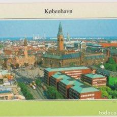 Postales: DINAMARCA, COPENHAGUE, PLAZA DEL AYUNTAMIENTO - ESCRITA. Lote 206273358