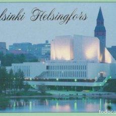 Postales: FINLANDIA, HELSINKI, SALA DE CONCIERTOS FINLANDIA HALL - ESCRITA. Lote 206274353