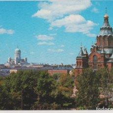 Postales: FINLANDIA, HELSINKI, VISTA PARCIAL - ESCRITA. Lote 206274626