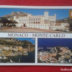 Postales: POST CARD CARTE POSTALE MONACO Nº 599 MONTE-CARLO LA PALAIS PRINCIER LE ROCHER DE MONACO ET LE PORT.. Lote 206304763