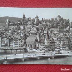 Postales: POST CARD SCHWEIZ SUIZA SUISSE SWITZERLAND LUZERN LUCERNE LUCERNA VISTAS VIEW ALTSTADT PUENTE BRIDGE. Lote 206901685