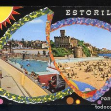 Postales: PORTUGAL. ESTORIL. CIRCULADA 1975 + AIR MAIL LABEL.. Lote 206903971
