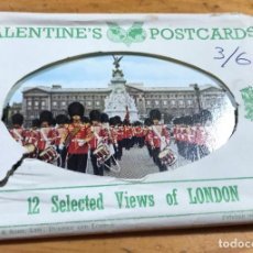 Postales: 12 VALENTINE POSTCARDS DE LONDRES. Lote 207128887