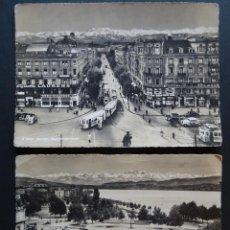 Postales: ZURICH, 2 POSTALES USADAS DEL AÑO 1955.. Lote 207376815