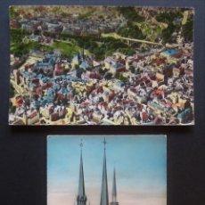 Postales: LUXEMBOURG, 2 POSTALES CIRCULADAS DEL AÑO 1957. Lote 207377022