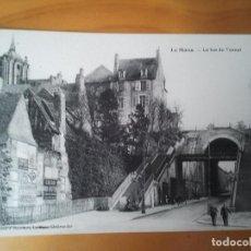 Postales: POSTAL RETRO DE LE MANS FRANCIA LE BAS DU TUNNEL. Lote 209028316