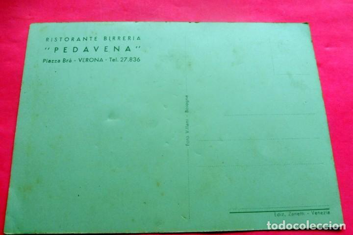 Postales: POSTAL - VERONA - ITALIA - RISTORANTE BIRRERIA PEDAVENA - Foto 2 - 209599236
