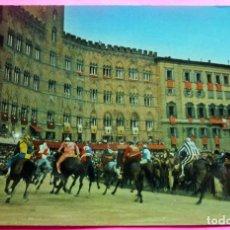 Postales: POSTAL - SIENA - ITALIA - ED. R.I.S. DI ROMBONI Nº 113 - IL PALIO. Lote 209600790
