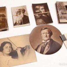 Postales: 93 POSTALES - MUCHAS FOTOGRÁFICAS - PERSONAJES DE LA CULTURA - WAGNER, DELACORIX, PASTEUR, HUGO. Lote 210316408