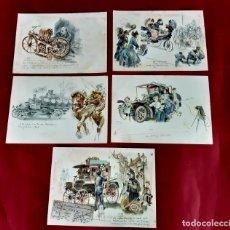 Postales: 5 POSTALES-MERCEDES BENZ PUBLICITARIA. 1940 STUTTGART-EXCELENTE ESTADO. Lote 210356165