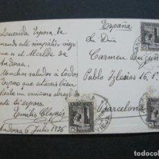 Postales: ANDORRA-CIRCULADA-VELL CONSELLER-FOTOGRAFICA CLAVEROL-POSTAL ANTIGUA-(72.616). Lote 210787200