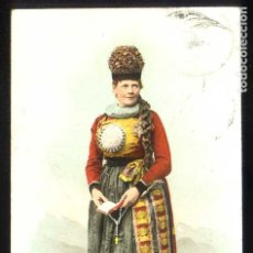 Postales: SUIZA. FRIBOURG. *COSTUME FRIBOURGEOIS* CIRCULADA 1910.. Lote 211677224