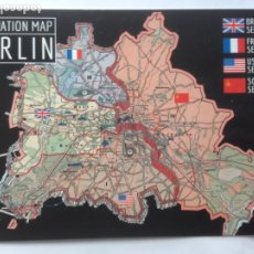 Postales: POSTAL - OCUPPATION MAP BERLIN 1961 - POSTCARD PM 174. Lote 211929161