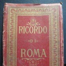 Postales: RICORDO DI ROMA. ALBUM FOTOGRÁFICO ANTIGUO DESPLEGABLE. 20 X 14,5 CM. Lote 212836423