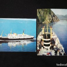 Postales: 2 TARJETAS POSTALES ENVIADAS 1969 BARCOS. Lote 212933590