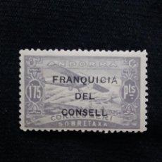 Postales: ANDORRA ESPAÑA, 1,75 PTAS, CORREO AEREO, AÑO,1932. NUEVO. SOBREESCRITO,. Lote 213105980