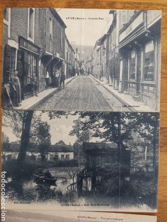 Postales: 3 Postales Francesas de Avize de 1918, France Francia. - Foto 2 - 213445516