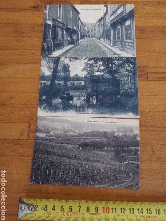 3 POSTALES FRANCESAS DE AVIZE DE 1918, FRANCE FRANCIA. (Postales - Postales Extranjero - Europa)