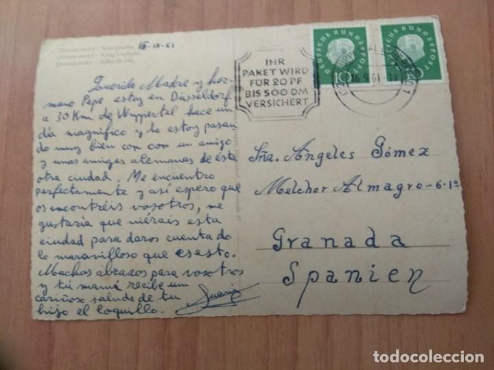 Postales: POSTAL QUE FUE CIRCULADA CON SELLO DE DUSSELDORF - Foto 2 - 213467928