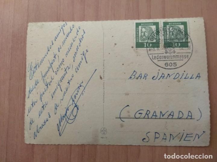Postales: POSTAL QUE FUE CIRCULADA CON SELLO DE FRANHFURT/M. - Foto 2 - 213468023