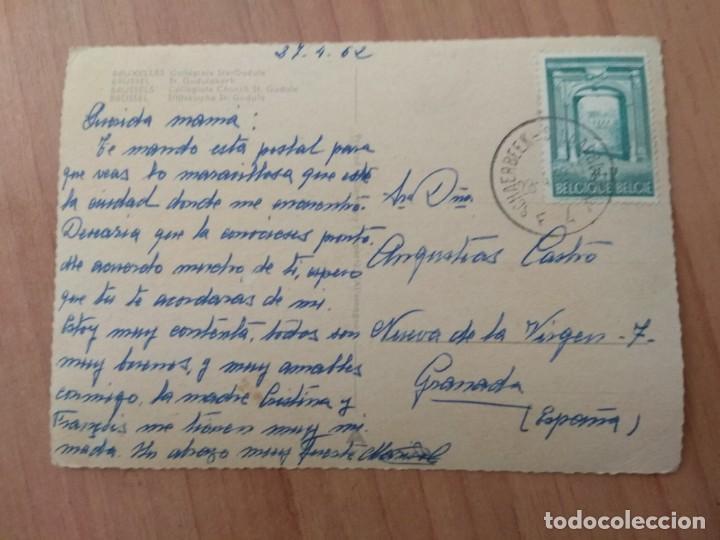 Postales: POSTAL QUE FUE CIRCULADA CON SELLO DE BRUXELLES - Foto 2 - 213468125