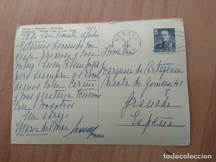 Postales: POSTAL QUE FUE CIRCULADA CON SELLO DE NORWAY - Foto 2 - 213468206