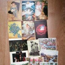 Postales: LOTE 16 POSTALES AUTORES ULRICH WOLF , VICENT VAN GOGH,MARY CASSAT, SEGANTINI , GENNANT GRÜNEWALD. Lote 213618282