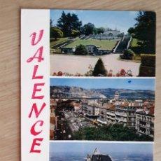 Postales: TARJETA POSTAL - VALENCE PARC JOUVET PLACE DE LA REPUBLIQUE RUINES DE CRUSSOL. Lote 214784727