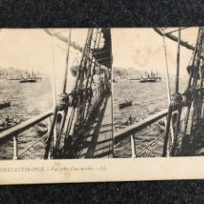 Postales: RARISIMO LOTE POSTALES ESTEREOSCOPICA CONSTANTINOPLE 1909. Lote 215918815