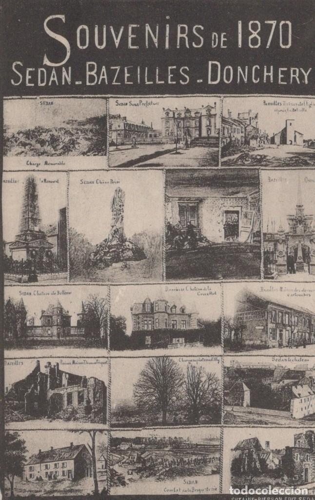 POSTAL FRANCIA - SOUVENIRS DE 1870 - SEDAN - BAZEILLES - DONCHERY (Postales - Postales Extranjero - Europa)