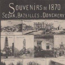 Postales: POSTAL FRANCIA - SOUVENIRS DE 1870 - SEDAN - BAZEILLES - DONCHERY. Lote 216355662