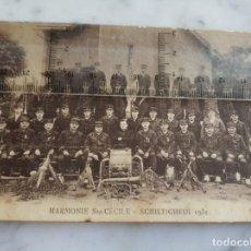 Postales: ANTIGUA POSTAL - HARMONIE SAINTE CÉCILE, CREADA EN 1908 - SCHILTIGHEIM 1931-. Lote 217593715