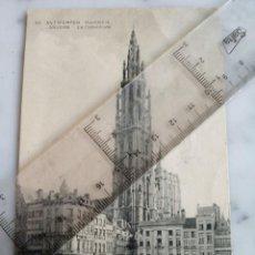 Postales: ANTIGUA POSTAL - LA CATHEDRALE ANTWERPEN - AMVERES BELGICA - ESCRITA 1922 -. Lote 217595482