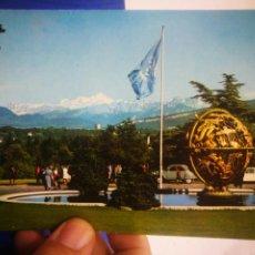 Postales: POSTAL GÉNOVA GENEVE LE PARC DE L'ONU ET VUE LE MONTÓ BLANCO 1972 ESCRITA. Lote 217675182
