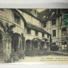 Postales: CPA , FRANCE , FRANCIA , GISORS , HOTEL DE VILLE , CARMELITES. Lote 217927788