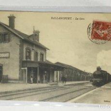 Postales: CPA , FRANCE , FRANCIA , BALLANCOURT , LA GARE , ESTACIÓN DE TREN. Lote 217928101
