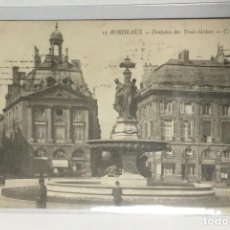 Postales: CPA , FRANCE ,FRANCIA , BORDEAUX , FONTAINE. Lote 217928741
