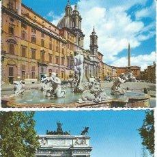 Postales: DOS POSTALES DE ITALIA AÑOS 60. Lote 218616811