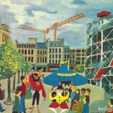 Postales: FRANCIA. PARIS. NAIF. LE CENTRE GEORGES POMPIDOU. 824. BUEN ESTADO. 10X15 CM. ENTRE 1960 Y 1970.. Lote 219886240