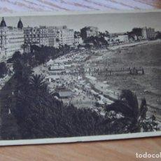 Postales: POSTAL ANTIGUA PLAYA DE CANNES, FRANCIA. USADA 1936 B/N. Lote 219956395